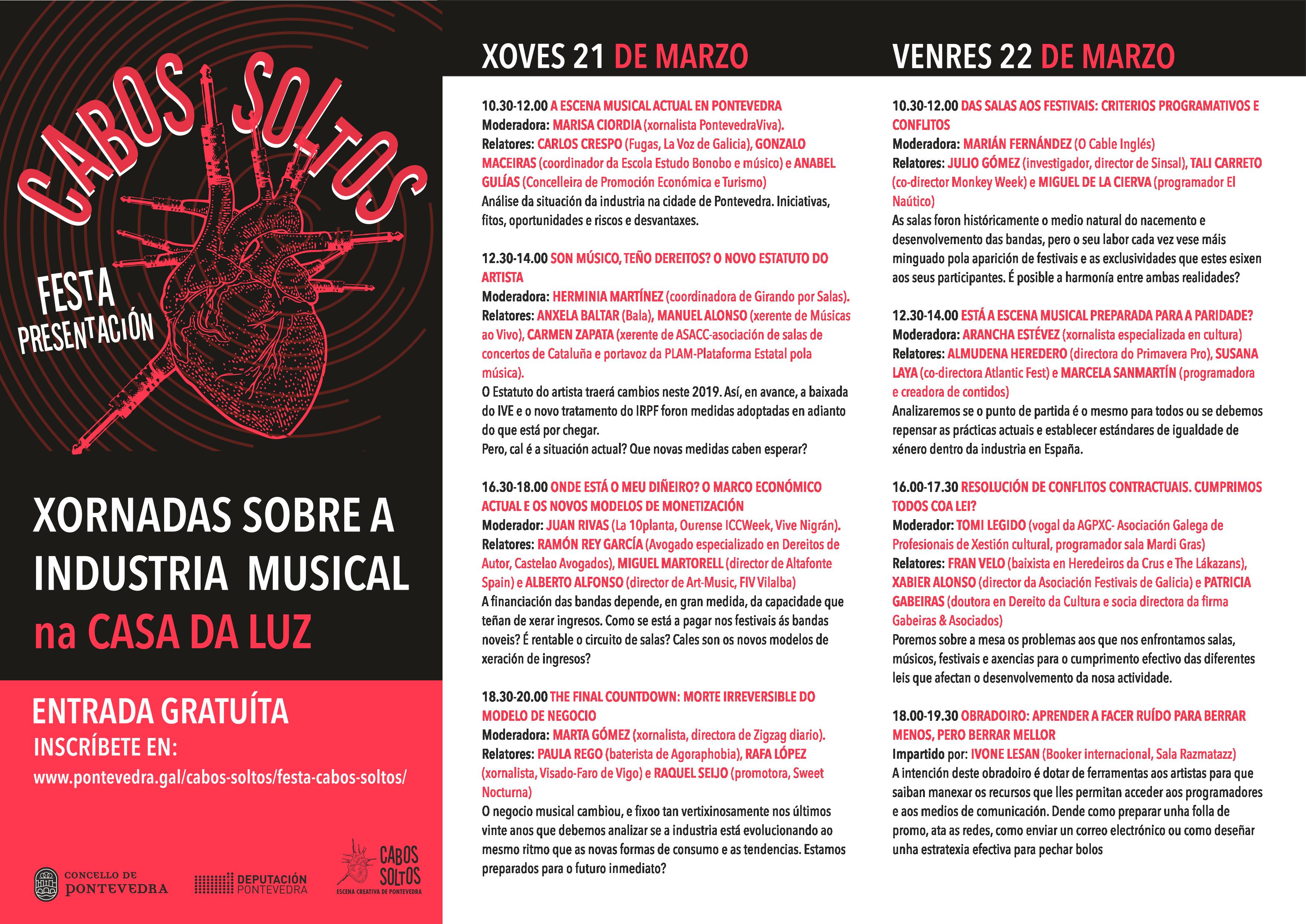 Cabos Soltos | Xornadas Industria Musical 22 MAR